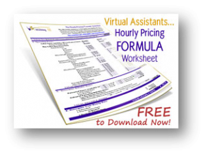 Virtual Assistants Hourly Price Formula Worksheet. Become a VA