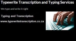 Typewrite Transcription and Typing Services