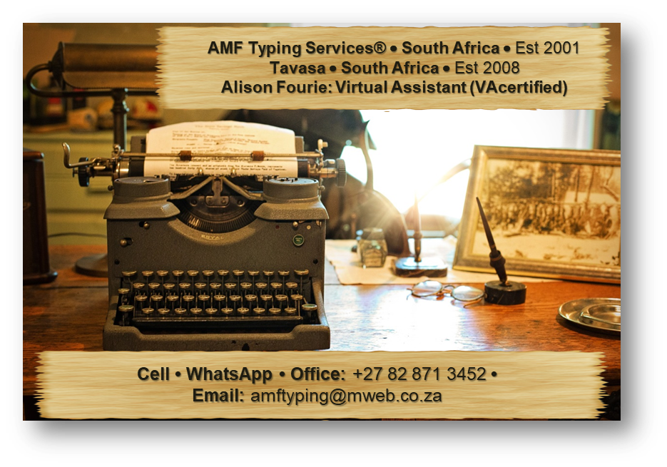 AMF Typing Services